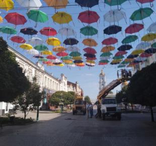 Всі Суми - В Сумы вернулись зонтики (+фото)