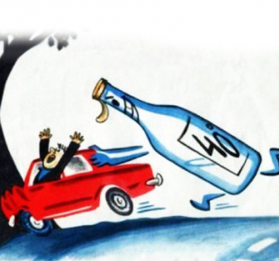 Всі Суми - В Сумах водитель ударил боллард (+видео)