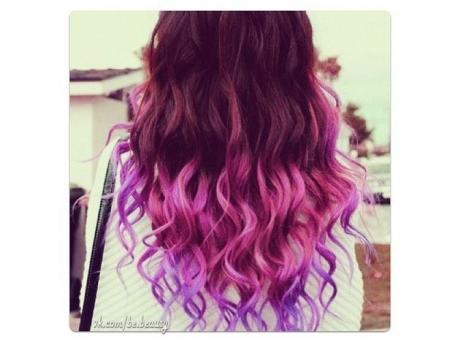 Покрасить концы волос в яркий цвет