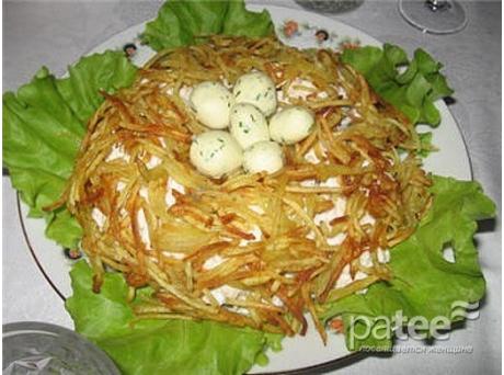 Рецепты салатов гнездо глухаря с фото