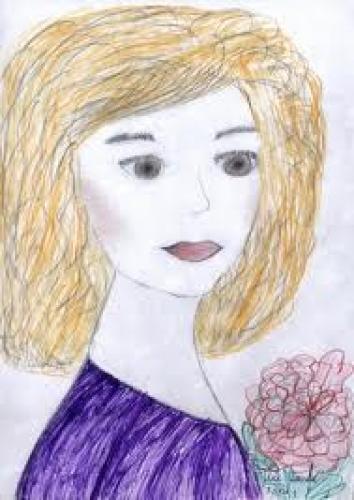 Раскраски портрет моей мамы