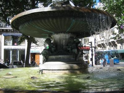 Парижские фонтаны  работают без выходных