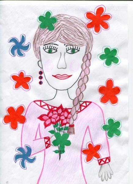 детские рисунки 8 марта фото