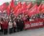 Сумские коммунисты пикетировали облгосадминистрацию, требовали референдум и ассоциацию с Таможенным союзом