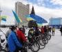 В Европу - на велосипеде: в Сумах состоялся велопробег за европейские ценности (фото)
