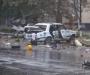 На Сумщине подорвали два автомобиля и обстреляли военкомат (фото)