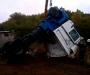 Страшное ДТП: на Сумщине перевернулся бензовоз (фото)