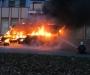 В Сумах на СКД сгорела маршрутка (фото)