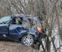 В Сумах водитель не справился с управлением и чуть не слетел с обрыва (фото)