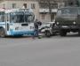 ДТП в Сумах: КамАЗ въехал в легковик и троллейбус (фото)