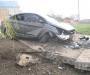 На Сумщине 13-летний парень взял покататься родительский автомобиль и вместе с друзьями врезался в бетонную плиту (фото)