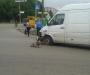 В Сумах на перекрестке микроавтобус столкнулся с легковым автомобилем