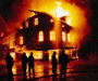 На Сумщине горел жилой дом