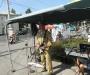 Уличные музыканты Сум в военной форме (фото)