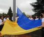 На День прапора в Сумах люди зібралися попри дощ (фоторепортаж)