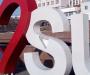 В Сумах испортили знак в центре города (фото)